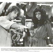 Donna Summer sul set di Grazie a Dio è venerdì, con lo sceneggiatore Robert Klane