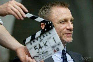Daniel Craig sul set di 007 - Skyfall