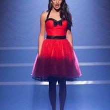Lea Michele in un momento dell'episodio Nationals della serie tv Glee