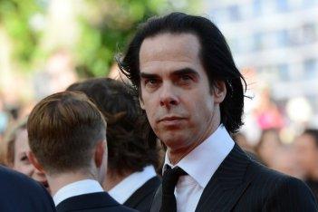 Un primo piano di Nick Cave, sceneggiatore e compositore di Lawless, a Cannes