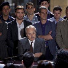 I 57 giorni: Luca Zingaretti (al centro) in una scena della fiction incentrata su Paolo Borsellino