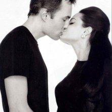 James Haven bacia sua sorella Angelina Jolie