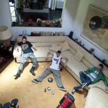 Paura: Claudio Di Biagio, Lorenzo Pedrotti e Domenico Diele in una scena d'azione del film