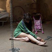 Paura: Francesca Cuttica prigioniera in una scena del film