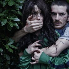 Paura: Lorenzo Pedrotti con Francesca Cuttica in una tesa scena del film