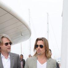 Brad Pitt e il regista Andrew Dominik Cannes al photocall di Killing Them Softly