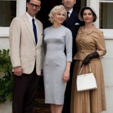 Marilyn: Michelle Williams, Dougray Scott, Julia Ormond e Kenneth Branagh in una scena del film