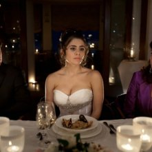 Qualche nuvola: Michele Alhaique insieme a Greta Scarano e Antonella Attili in una scena del film