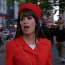 Lea Michele in una scena del finale della terza stagione di Glee, Il giorno del diploma