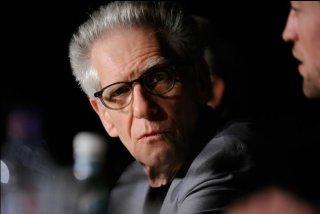 David Cronenberg a Cannes durante la conferenza stampa di Cosmopolis