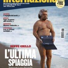 Beppe Grillo sulla cover de L'internazionale