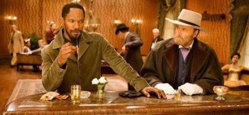 Jamie Foxx e Franco Nero in un scena di Django Unchained