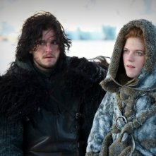 Game of Thrones: Kit Harington e Rose Leslie nell'episodio The Prince of Winterfell