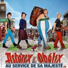 Asterix e Obelix al servizio di sua maestà: la locandina del film