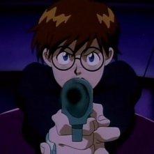Jean in una scena dell'ultimo episodio della serie-tv Nadia - Il mistero della pietra azzurra