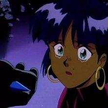 La protagonista in una scena dell'episodio Eredita le stelle, dell'anime Nadia