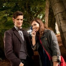 Doctor Who: Matt Smith e Jenna-Louise Coleman sul set della stagione 7