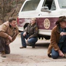 Longmire: Adam Bartley, Katee Sackhoff e Robert Taylor nell'episodio A Damn Shame