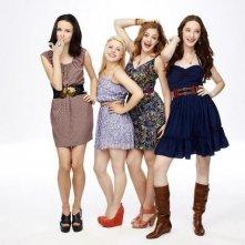 Bunheads: Sutton Foster, Emma Dumont, Kaitlyn Jenkins e Bailey Buntain in una immagine promozionale della serie
