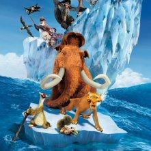 Ecco i personaggi di L'era glaciale 4: Continenti alla deriva abbarbicati su una zattera di ghiaccio