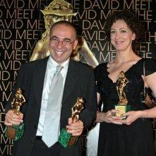 Kseniya Rappoport e Giuseppe Tornatore ai David di Donatello 2007, premiati per La sconosciuta