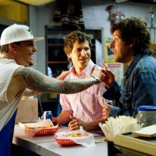 Vanilla Ice, Andy Samberg e Adam Sandler in That's My Boy in una scena di That's my Boy
