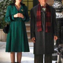 Ben Stiller e Kristen Wiig in attesa sul set di The Secret Life of Walter Mitty