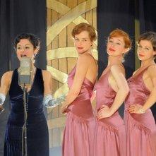 Viviana Dragani in una scena tratta dalla fiction LE RAGAZZE DELLO SWING