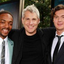 La leggenda del cacciatore di vampiri: il produttore Jim Lemley insieme a Anthony Mackie e Benjamin Walker durante la premiere mondiale del film a NY