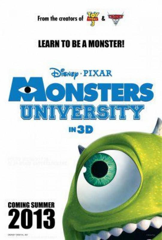 Monsters University La Locandina Del Nuovo Mostruoso Film Disney Pixar 243729