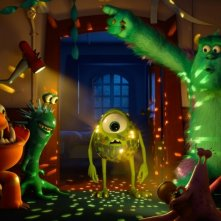 Monsters University: il 'brillante' Mike in un'aula dell'università in una scena del film