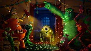 Monsters University: il 'brillante' Mike in un'aula dell'università in una scena del film