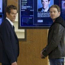 The Following: Kevin Bacon e Shawn Ashmore in una scena della serie