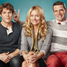 The Goodwin Games: Becki Newton, Scott Foley e Jake Lacy in una foto promozionale