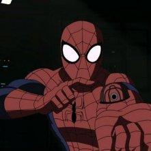 Ultimate Spider-Man: il protagonista in una scena della serie animata
