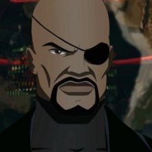 Ultimate Spider-Man: Nick Fury in una scena della serie animata