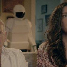 Frank Langella e Liv Tyler in una scena di Robot and Frank