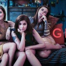 Girls: Allison Williams, Jemima Kirke, Lena Dunham e Zosia Mamet in una foto promozionale della serie HBO