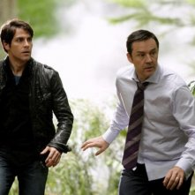 Grimm: Currie Graham e David Giuntoli nell'episodio Bears Will Be Bears