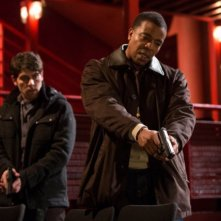 Grimm: David Giuntoli e Russell Hornsby nell'episodio Big Feet