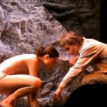 Torino, Antonio Orfanò con Lorenza Caroleo in una scena di 'Upupa My Dream is My Rebel king' regia di Antonio Orfanò