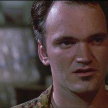 Quentin Tarantino nei panni di Mr. Brown in una scena de Le Iene