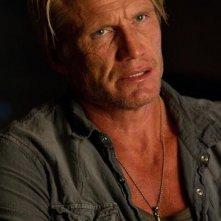 Dolph Lundgren nei panni di Gunnar Jensen in una scena de I mercenari 2
