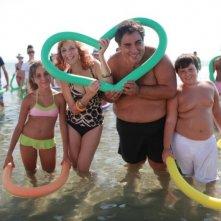 Antonio Gentile sul set di Operazione Vacanze con la sua famiglia cinematografica.