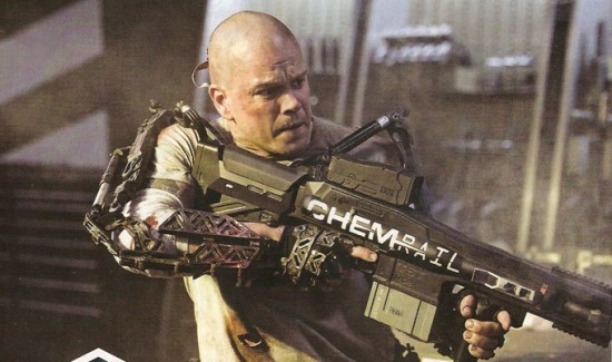 Matt Damon In Ombattimento In Una Scena Di Elysium 245005