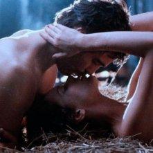 Sylvia Kristel insieme a Nicholas Clay ne L'amante di Lady Chatterley