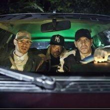Jib Pocthier, Medi Sadoun, Franck Gastambide nella commedia Les Kaïra