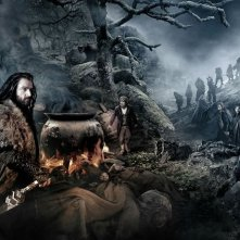 Lo Hobbit: un viaggio inaspettato: Richard Armitage è Thorin nella seconda parte dell'artwork del film presentato al Comic-Con 2012