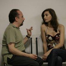 Una donna per la vita: Maurizio Casagrande con Margareth Madè in una scena