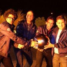 Vicini del terzo tipo: Richard Ayoade, Ben Stiller, Vince Vaughn e Jonah Hill in una divertente scena del film